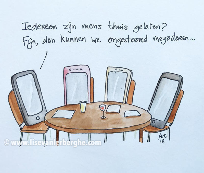 smartphone cartoon