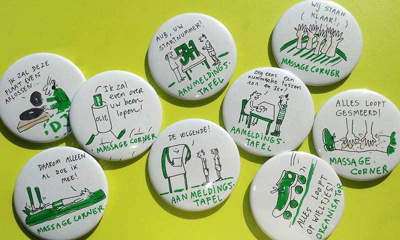 live buttons tekenen