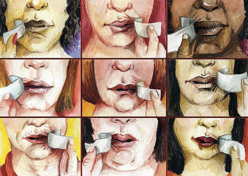 illustratie vrouwenrechten lise vanlerberghe
