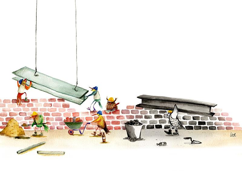 illustratie voor magazine Lise Vanlerberghe