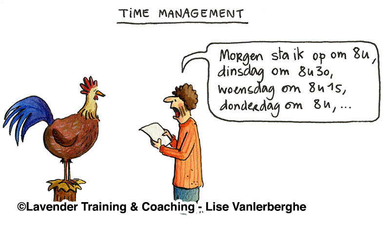 time management cartoon