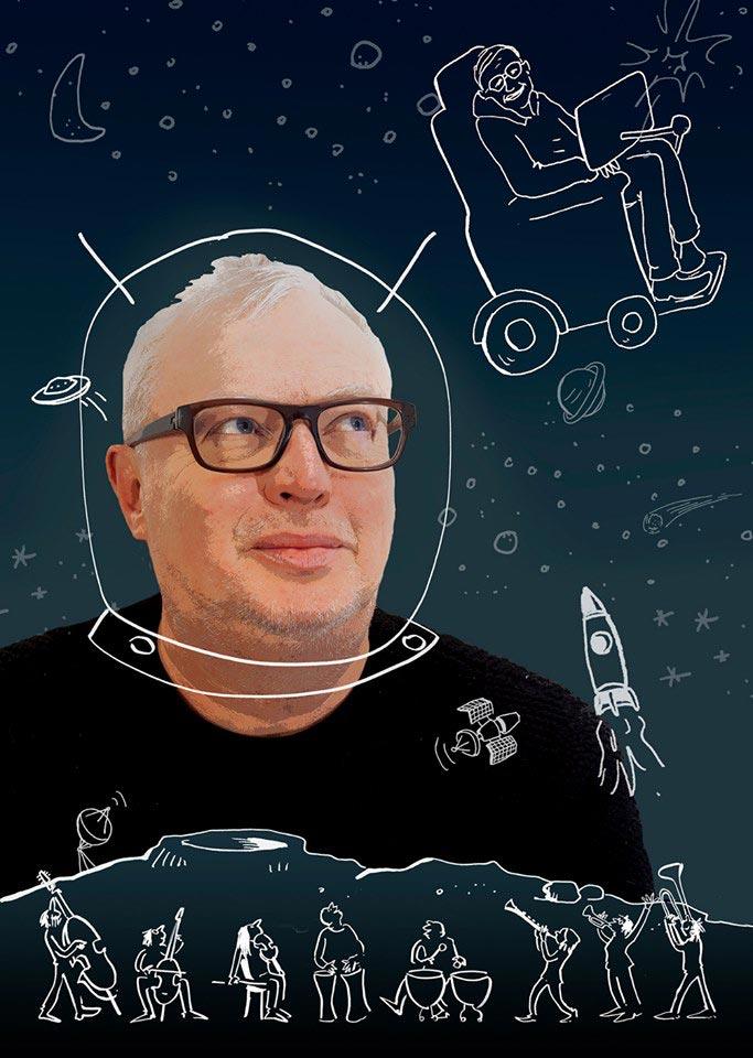 Stijn in het hoofd van Hawking
