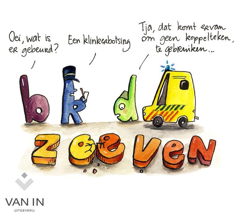cartoon rond Taal - uitgeverij VAN IN