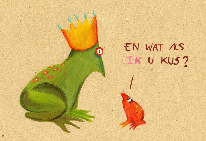 cartoon kikker Lise Vanlerberghe