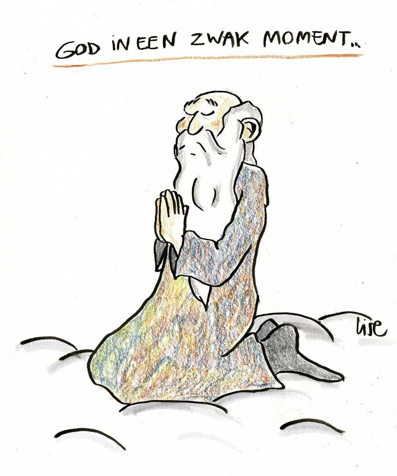 cartoon God