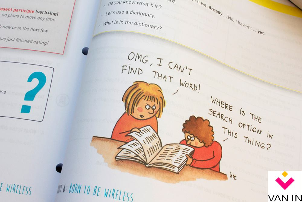 cartoon in schoolboek