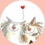 katten verliefd
