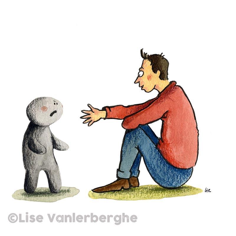 illustratie open interesse tonen - depressie