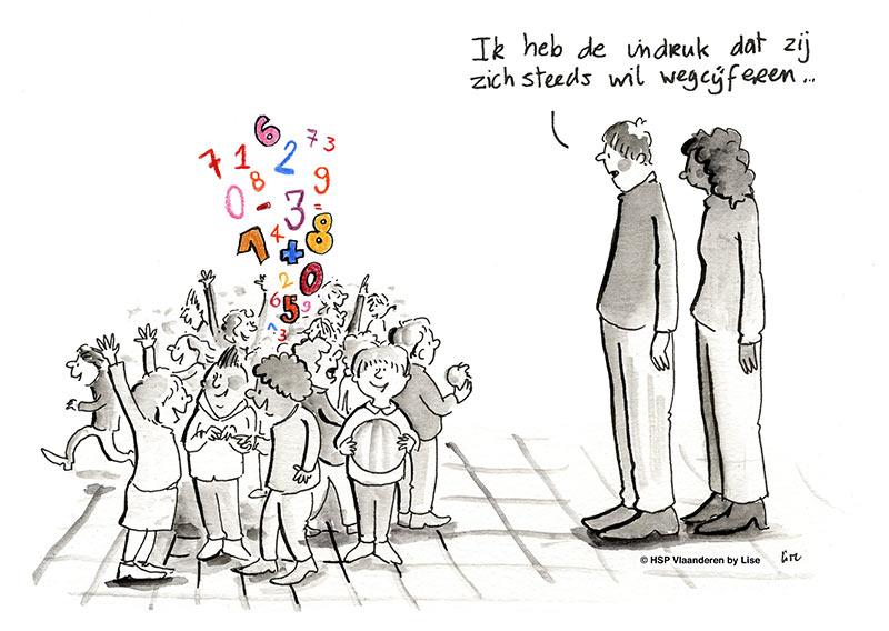 illustratie hoogsensitief kind op school