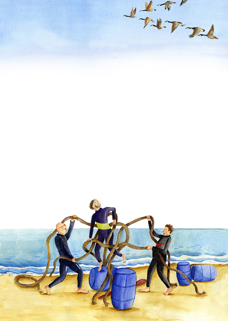 illustratie teambuilding