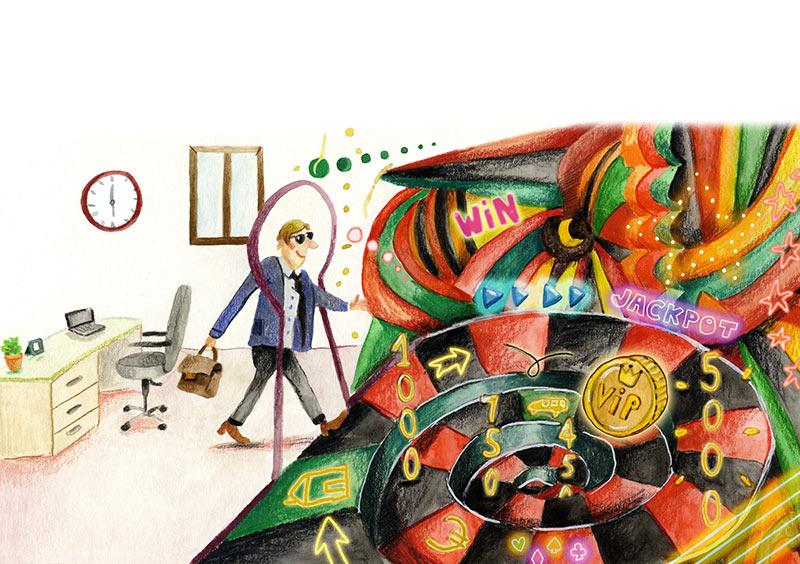 illustratie casino