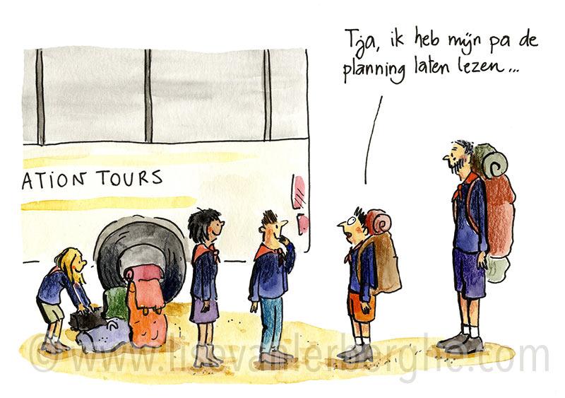 cartoon planning kamp