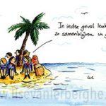 buitenlands kamp illustratie