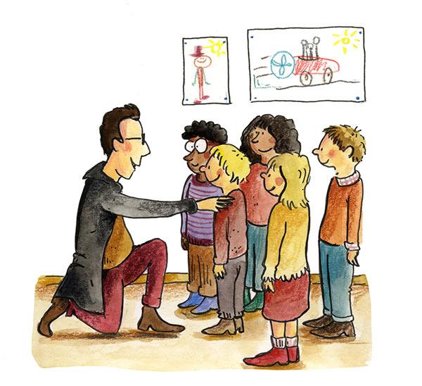 illustratie leraar