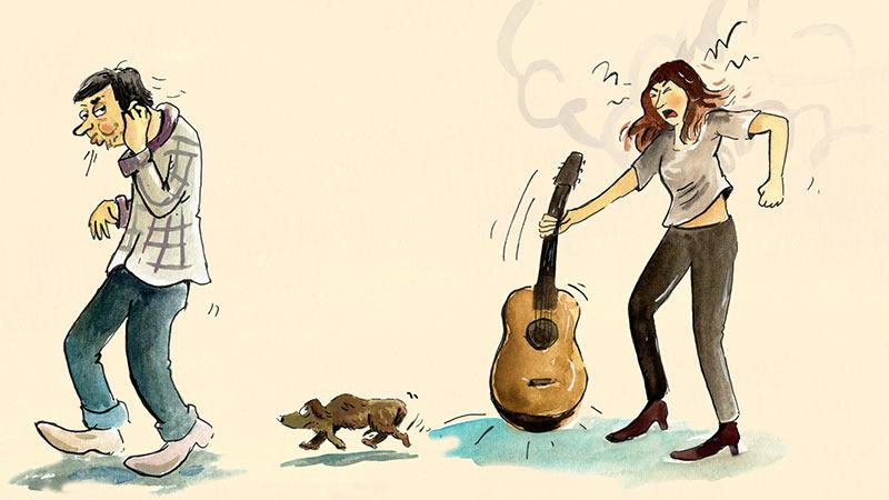 illustratie ik ben niet kwaad