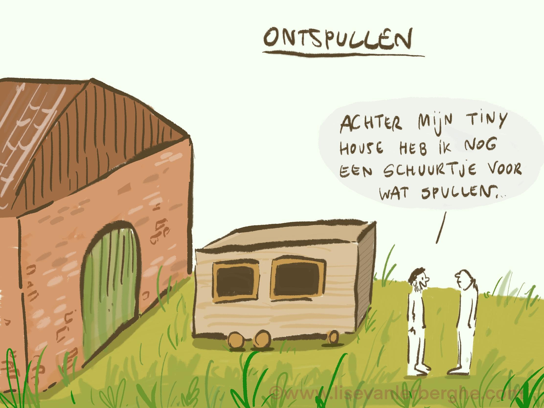 Live cartoons tekenen – tiny houses